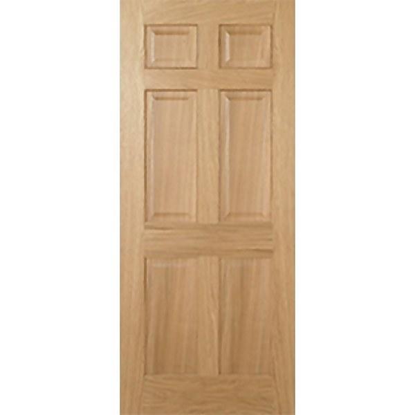 Regency Internal Prefinished Oak 6 Panel Fire Door - 686 x 1981mm