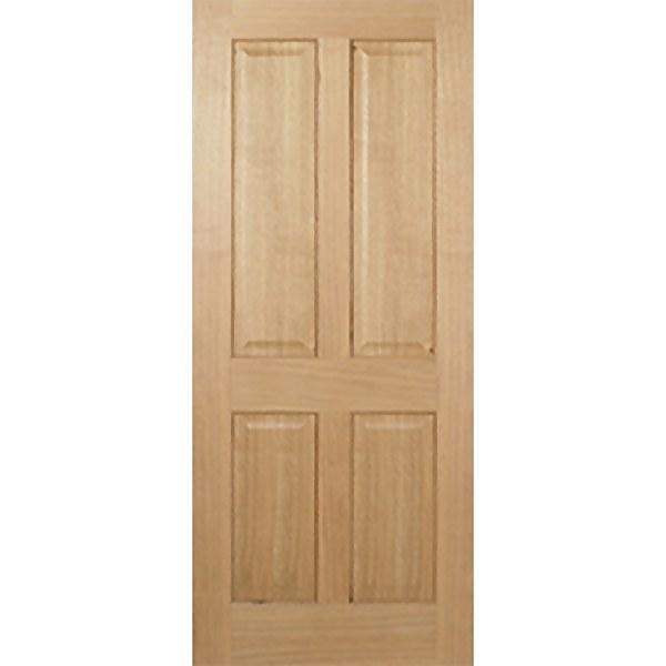 Regency Internal Prefinished Oak 4 Panel Fire Door - 838 x 1981mm