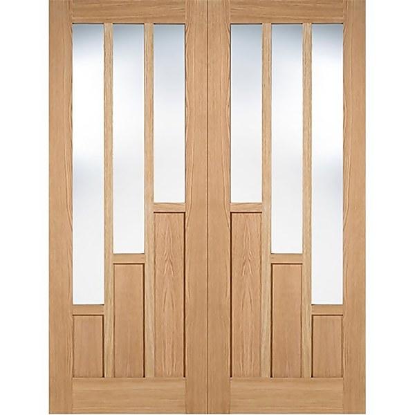 Coventry Internal Glazed Prefinished Oak 3 Lite Pair Doors - 915 x 1981mm