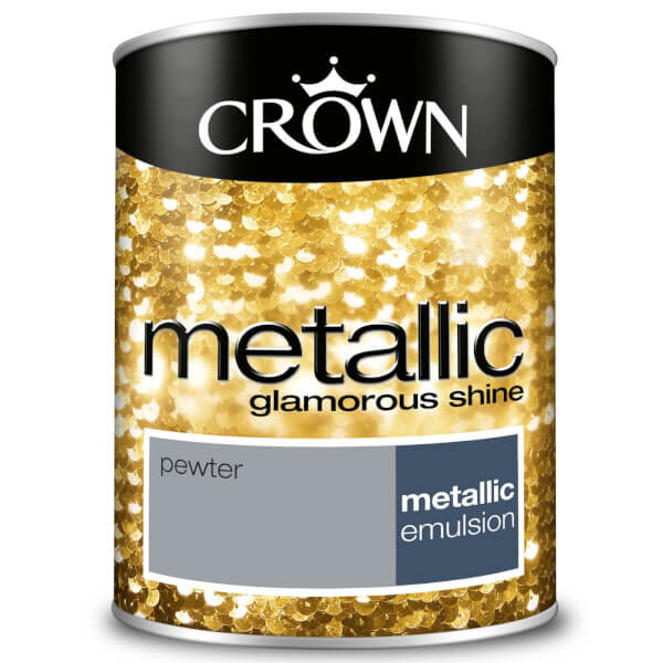 Crown Feature Wall Metallic Pewter - 1.25L