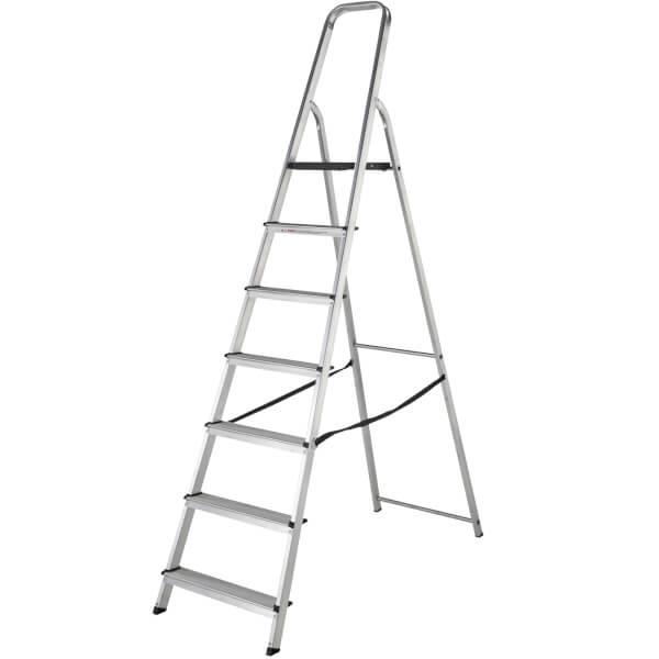 Werner High Handrail Step Ladder - 7 Tread