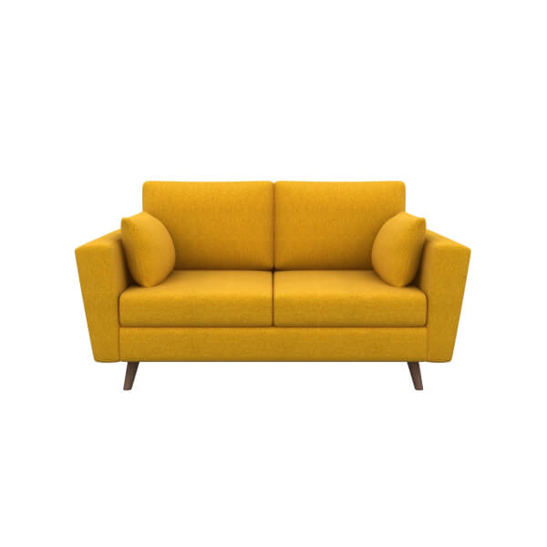 Lucia 2 Seater Sofa - Mustard