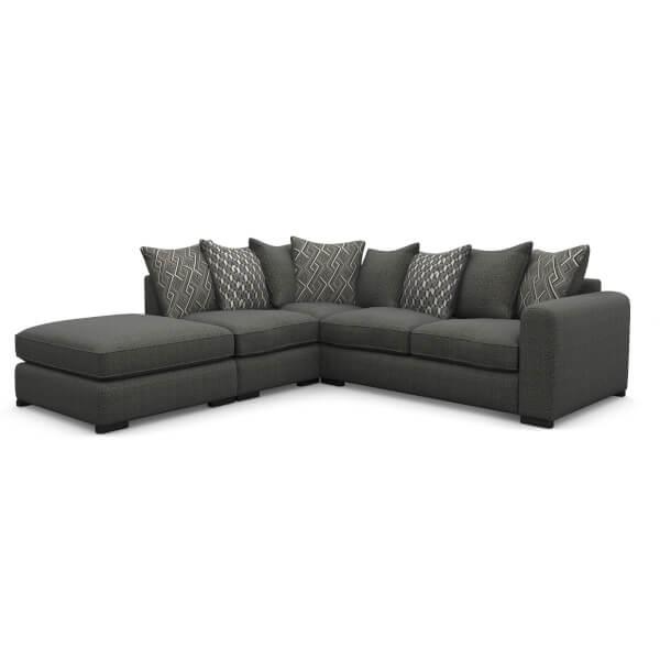 Lewis Lefthand Corner Sofa - Charcoal