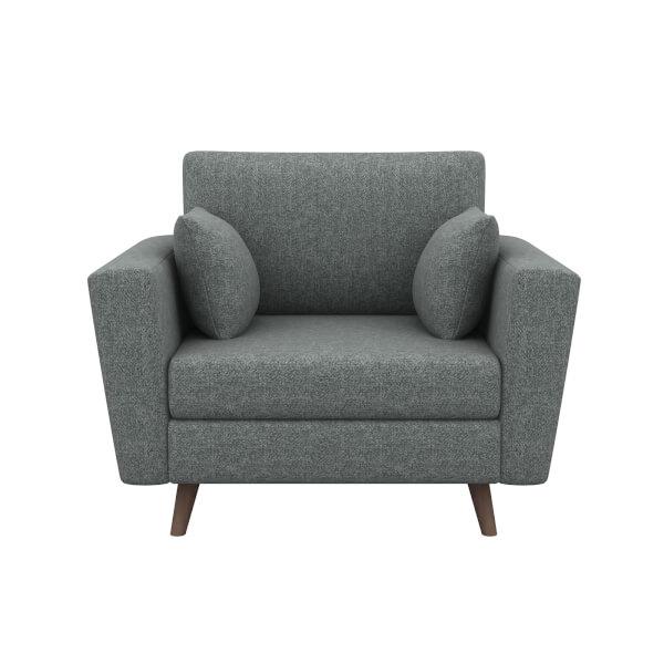 Lucia Cuddle Chair - Grey