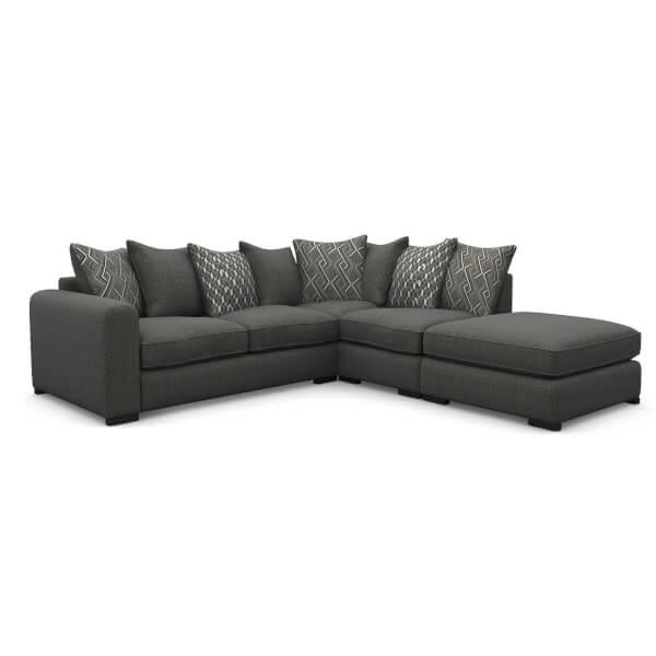 Lewis Righthand Corner Sofa - Charcoal