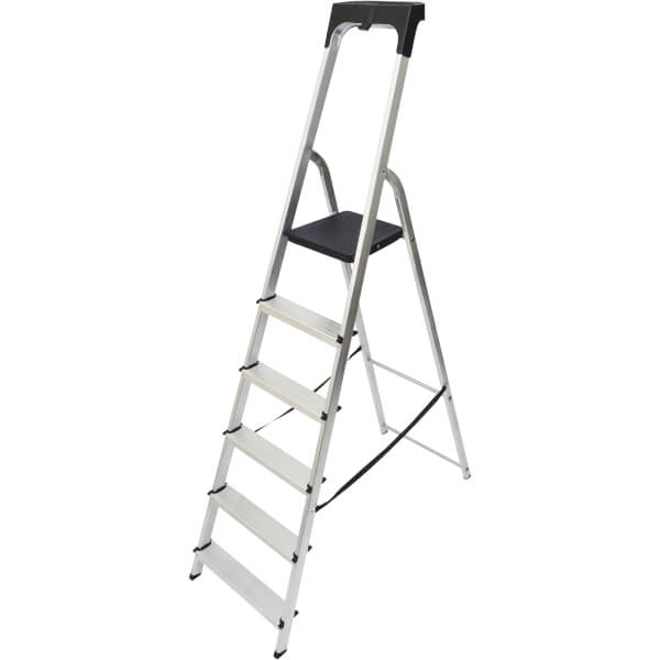 Werner High Handrail Step Ladder with Tool Tray - 6 Tread