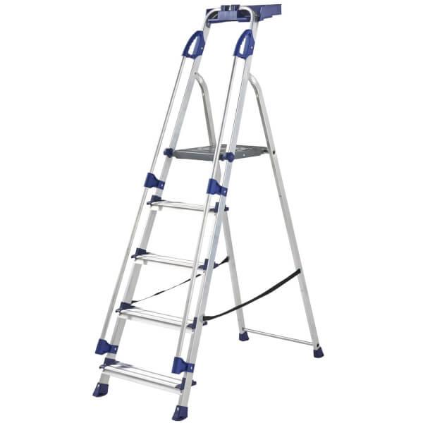 Werner Workstation Step Ladder - 5 Tread