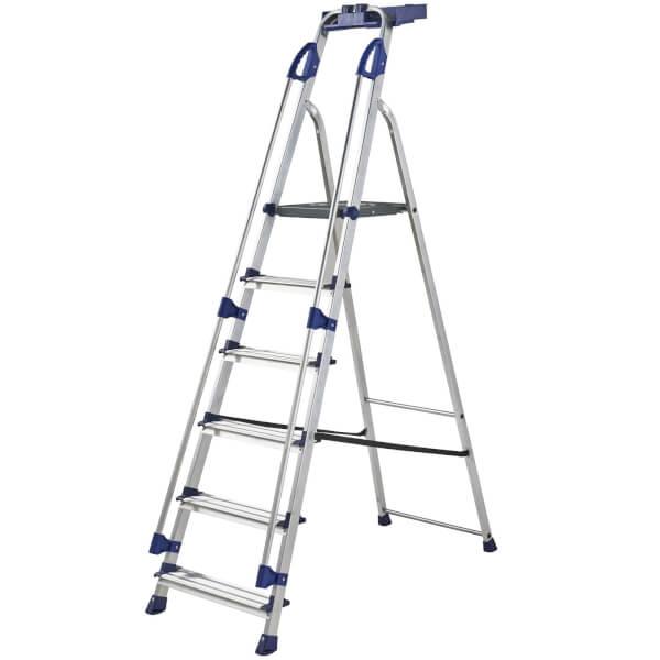 Werner Workstation Step Ladder - 6 Tread