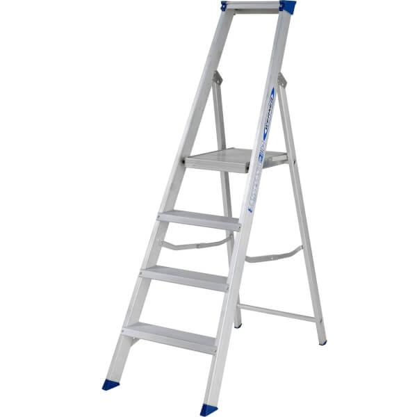 Werner MasterTrade Platform Step Ladder - 4 Tread