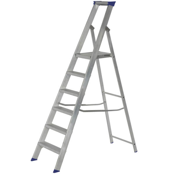 Werner MasterTrade Platform Step Ladder - 6 Tread