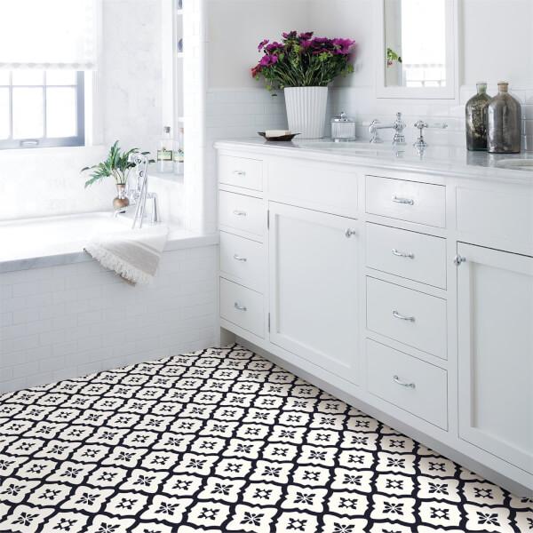 FloorPops Peel and Stick Self Adhesive Floor Tiles - Comet