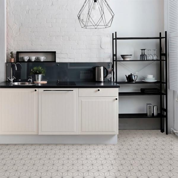 FloorPops Peel and Stick Self Adhesive Floor Tiles - Kikko