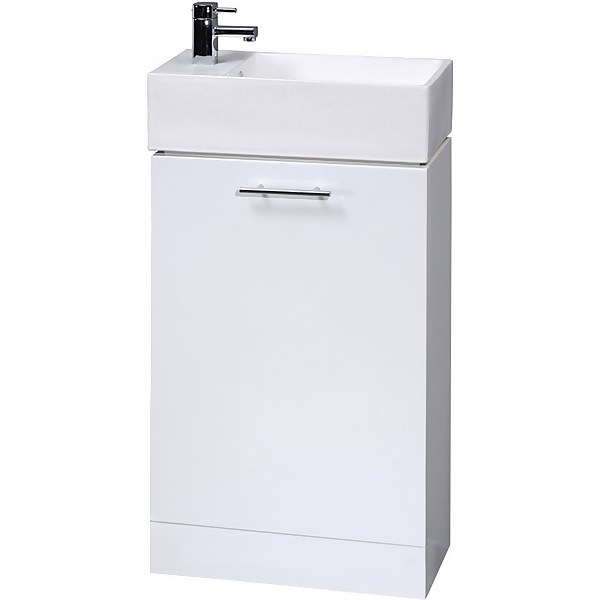 Balterley Orbit 480mm Compact Cabinet With Basin - Gloss White