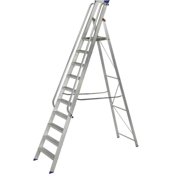 Werner Shop Step Ladder - 10 Tread