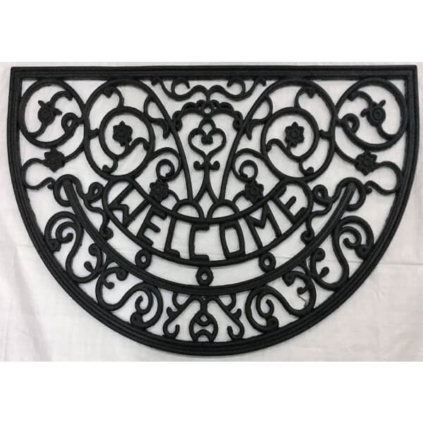 Decorative Half Moon Rubber Mat