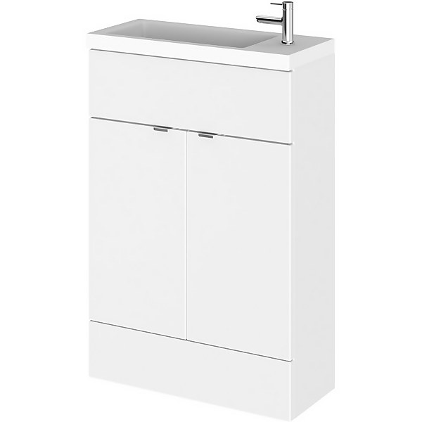 Balterley Dynamic 600mm Compact Vanity Unit with Basin - Gloss White
