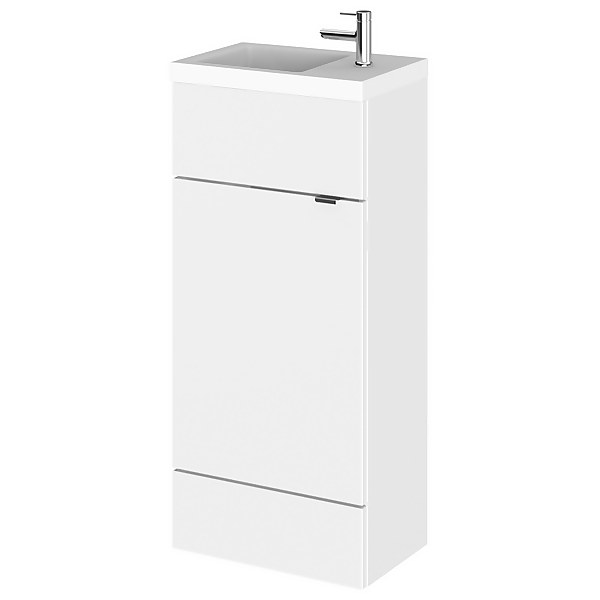 Balterley Dynamic 400mm Compact Vanity Unit with Basin - Gloss White