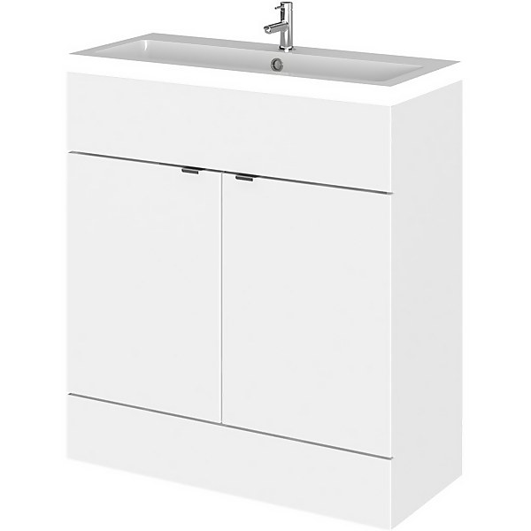 Balterley Dynamic 800mm Vanity Unit with Basin - Gloss White