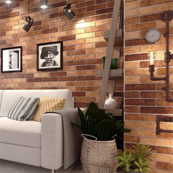 Seven Tones Brick Wall Tiles - 250 x 60mm