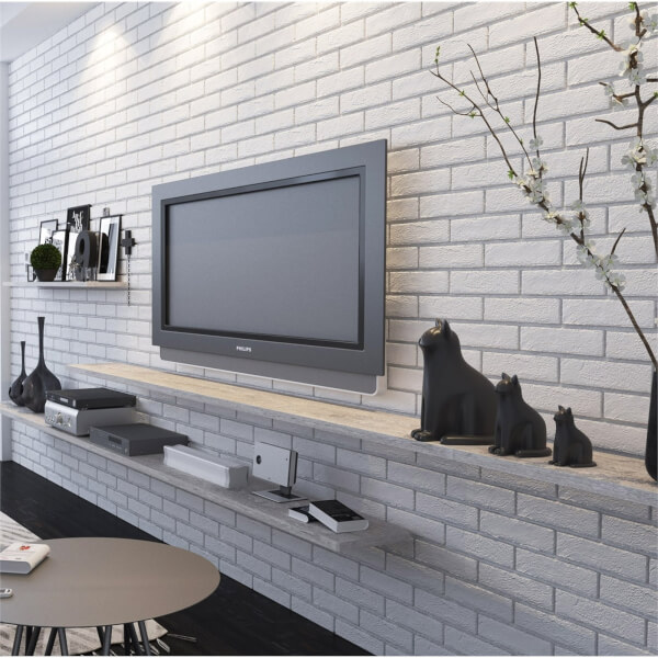 The Strand White Brick Wall Tiles - 250 x 60mm
