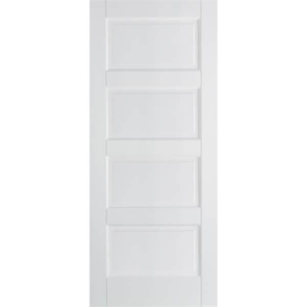 Textured Contemporary Internal Primed White 4 Panel Door - 762 x 1981mm