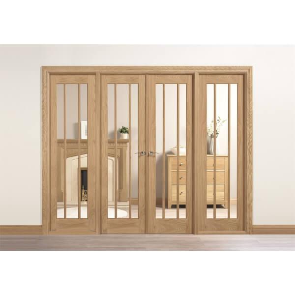 Lincoln Internal Glazed Unfinished Oak Room Divider - 2478 x 2031mm