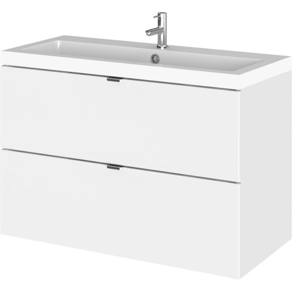 Balterley Dynamic 800mm Wall Hung Vanity Unit with Basin - Gloss White
