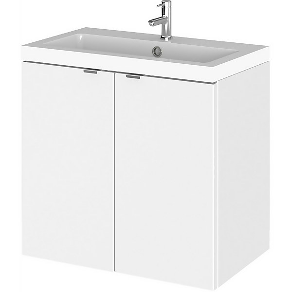 Balterley Dynamic 600mm Wall Hung Compact Door Unit with Basin - Gloss White