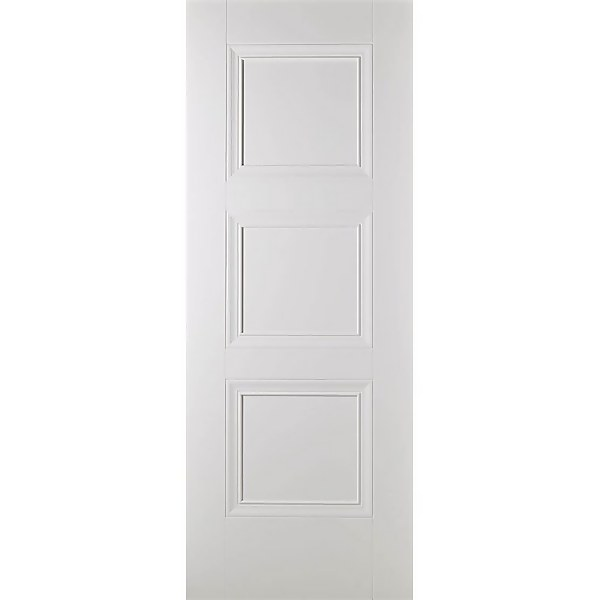 Amsterdam Internal Primed White 3 Panel Fire Door - 762 x 1981mm
