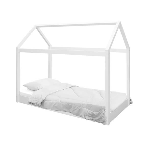Hickory House Single Bed - White
