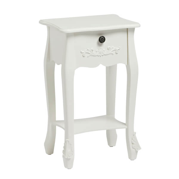 Antoinette 1 Drawer Nightstand - White