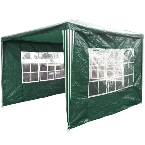 Charles Bentley Gazebo Awning Wedding/Party Tent -  3x3m - Green