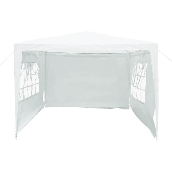 Charles Bentley Gazebo Awning Wedding/Party Tent - 3x3m - White