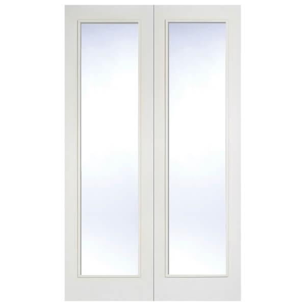 Pattern 20 Internal Glazed Primed White 1 Lite Pair Doors - 1524 x 1981mm