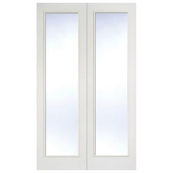 Pattern 20 Internal Glazed Primed White 1 Lite Pair Doors - 1220 x 1981mm