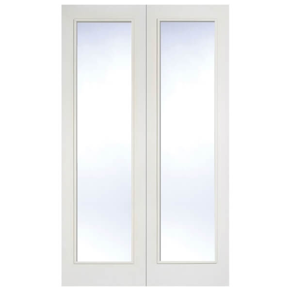 Pattern 20 Internal Glazed Primed White 1 Lite Pair Doors - 1372 x 1981mm
