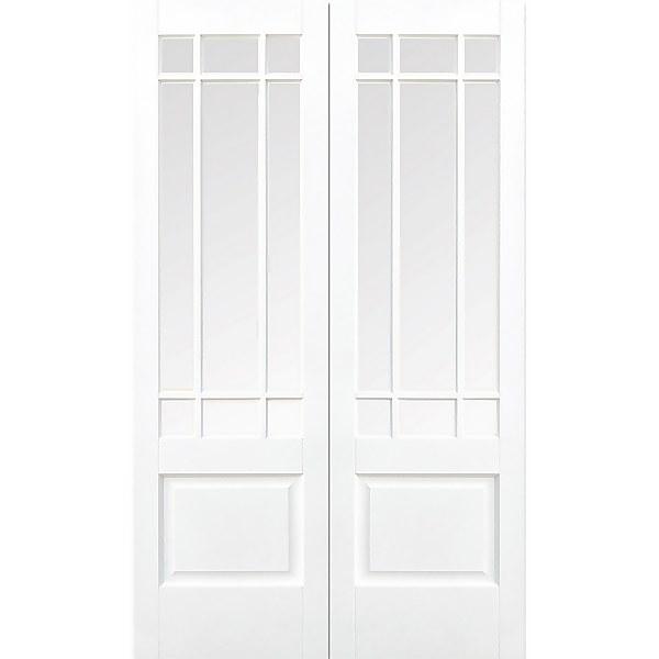 Downham Internal Glazed Primed White 9 Lite Pair Doors - 1067 x 1981mm