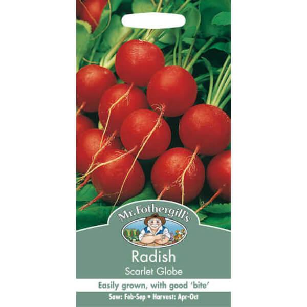Mr. Fothergill's Radish Scarlet Globe (Raphanus Sativus) Seeds