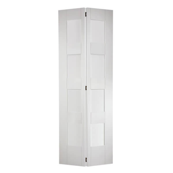 Shaker Internal Bi-fold Primed White 8 Lite Door - 762 x 1981mm