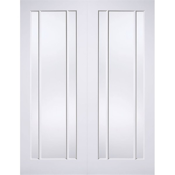 Lincoln Internal Glazed Primed White 3 Lite Pair Doors - 1524 x 1981mm