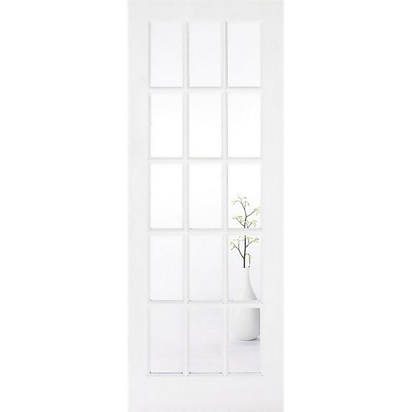 SA Internal Glazed Primed White 15 Lite Door - 762 x 1981mm
