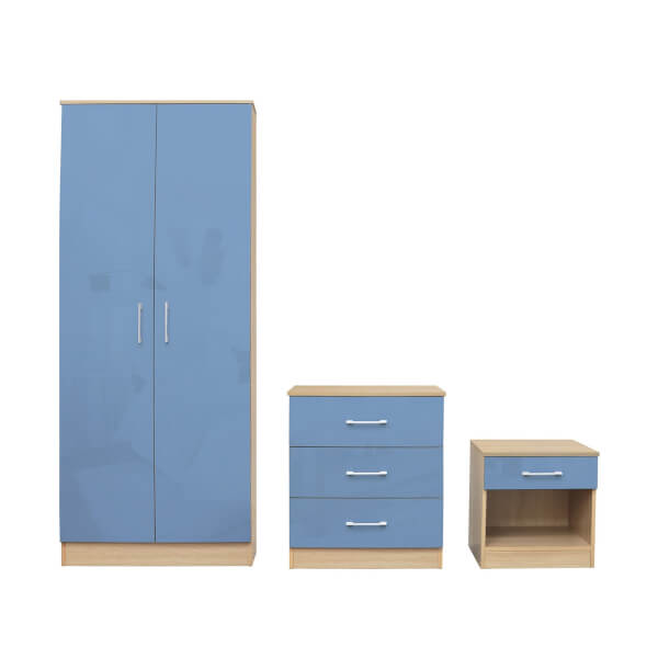 Dakota 3 Piece Bedroom Set - Blue