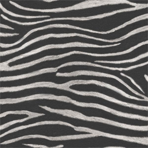 Arthouse Serengeti Zebra Print Textured Glitter Gel Black and White Wallpaper