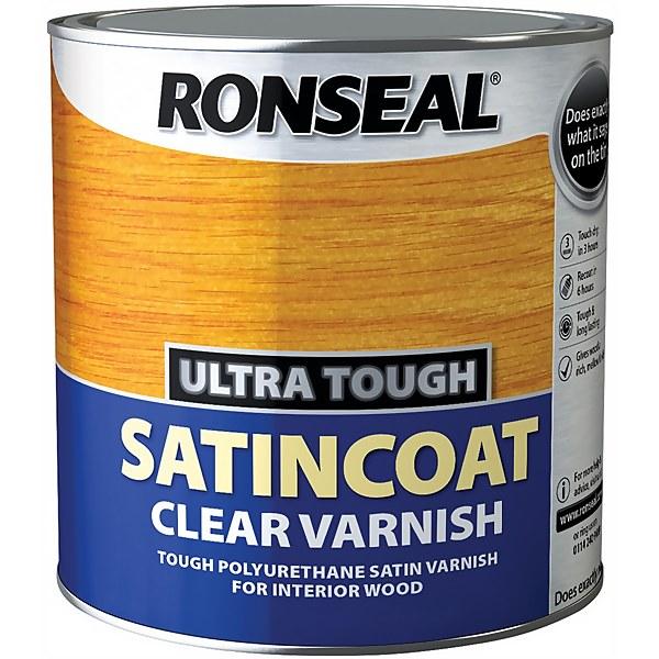 Ronseal UltraTough Satin Coat Clear Varnish - 2.5L