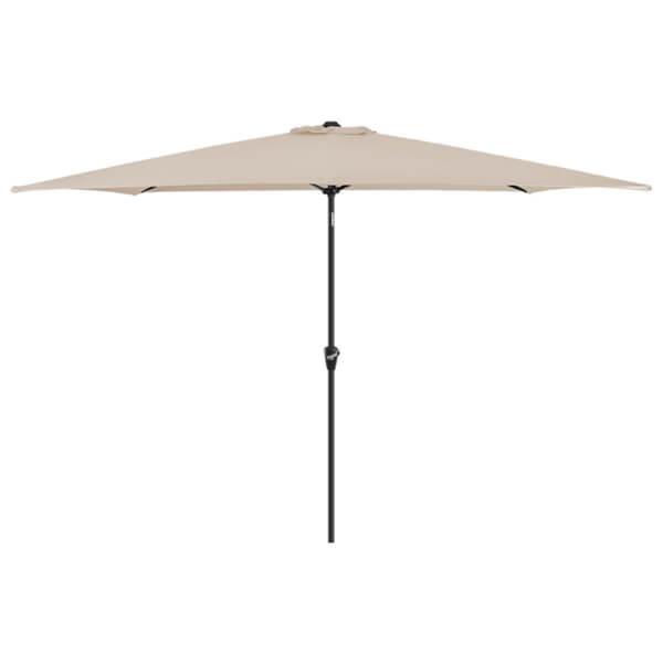 Aluminium Umbrella Parasol - 3x2m - Beige