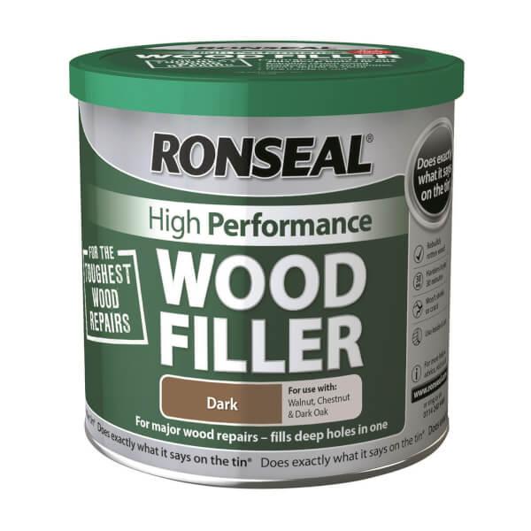 Ronseal High Performance Wood Filler Dark - 550g