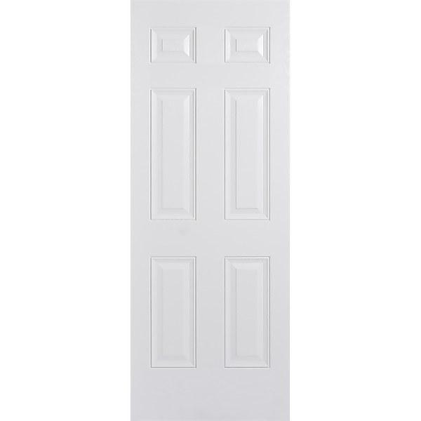 Colonial External White GRP 6 Panel Door - 813 x 2032mm