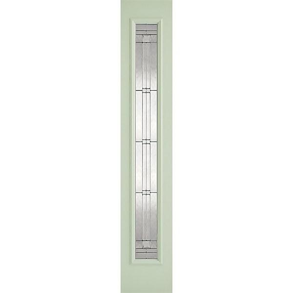 Elegant External Glazed Light Green GRP 1 Lite Sidelight - 356 x 2032mm