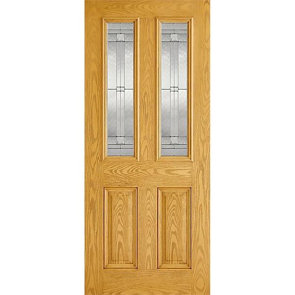 Malton External Glazed Oak GRP 2 Lite Door - 813 x 2032mm