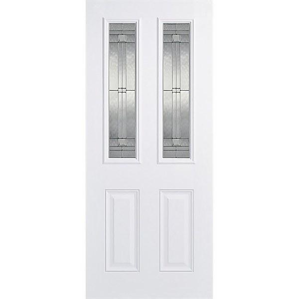 Malton External Glazed White GRP 2 Lite Door - 813 x 2032mm